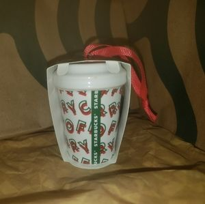 Starbucks Holiday - Starbucks Merry Coffee Ornament New